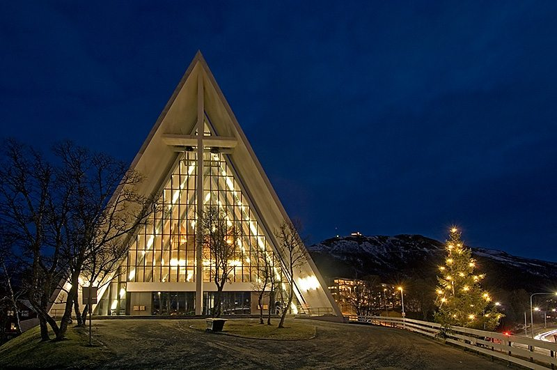 Church In Tromso Glass